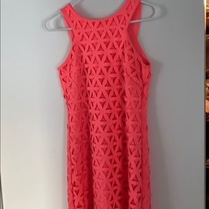 Lilly Pulitzer pink dress.
